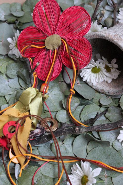 Cinturón flor rojo