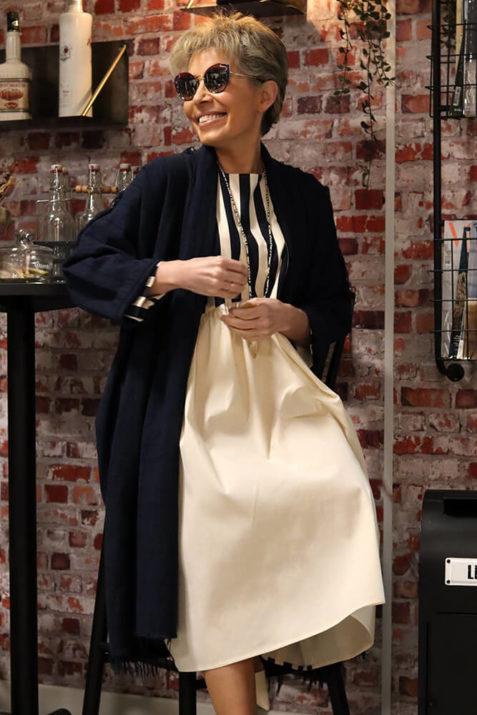 Abrigo guardapolvo en tejido de algodón